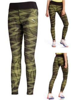 Add extra chicness to your runs with all-over graphic silicon print running tights from Puma. £80 #fashionrunningtights #runningtights