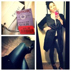 Carrie scored this Poleci jacket on clearance for $39, compare at $360! #maxxinista #jacket #fashion
