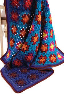 Light and Shadow Blanket by Judith L. Swartz - one of 8 Free Granny Square Patterns