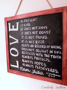 Valentine Chalkboard and Free Printable