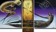 Cuadros tripticos al oleo 3 Piece Art, Bookends, Abstract Art, Canvas, Artwork, Image, Home Decor, Paintings, Journal