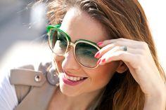 #lovelygreen #sunglasses #gucci #women #face #fashion