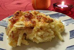 Gombás-sajtos rakott tészta