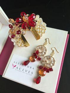 Bracelet and earrings FB: Alejandra Aceves Diseño de autor.