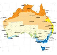 Australian climate zones. Discuss with students the type of climate they live in and compare it to someone in the opposite direction.