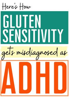 """A gluten free diet won't cure ADHD or ADHD symptom, so why do some people get better on a gluten free diet? The answer might shock you. Is gluten free key to the """"ADHD diet""""? Causes Of Adhd, Adhd Symptoms, Emotional Development, Self Development, Adhd Facts, Adhd Diet, Adhd Strategies, Dysgraphia"""
