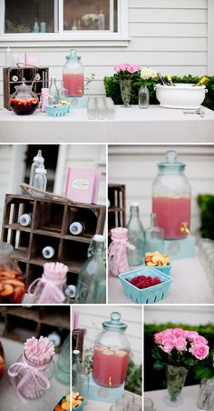 Pretty Pink & Aqua Backyard Baby Shower | The Little Umbrella
