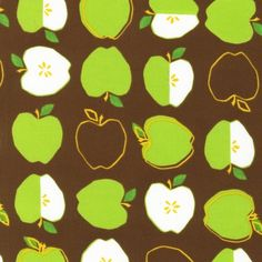 Metro Market Fabric by Robert Kaufman, Metro Apples in Brown-Fat Quarter. $2.50, via Etsy.