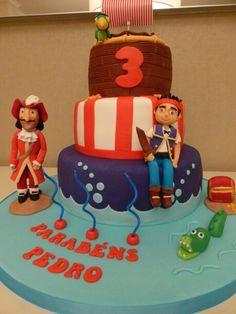 Bolo de Aniversario - Jake e os Piratas da terra do nunca