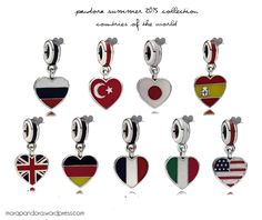 Pandora Summer 2015 Heart Flag collection! Japan my love (paired with the geisha doll, just perfect)