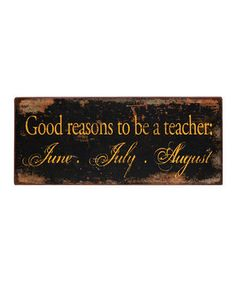 This is a great sign for any teacher.