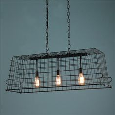 Lighting - Industrial Wire Chic Island Chandelier - Shades of Light - industrial, wire, chandelier