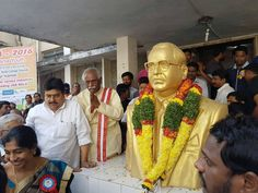 Paid tribute to B.R Ambedkar, the architect of our constitution at Lalapet, #Hyderabad.