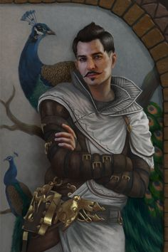 Dorian Pavus ( Companion In Dragon Age Inquisition )  Dorian is looking exceptionally sassy in this picture and I love it.