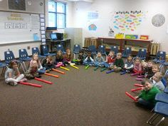 ♫ We ❤ Music @ HSES! ♫: Kindergartners LOVE the Boomwhackers!
