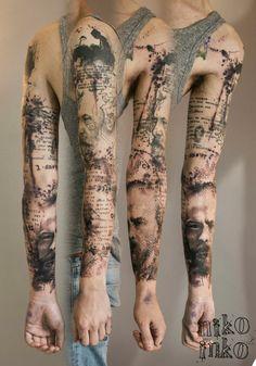 Niko Inko  Suite d'un tattoo de Deexen Tattooing. 14h plus tard...Tadaaaaaaaa Lecture, ecriture, Jules Verne, Dostoïevsky, extraits du Parfum de Suskind et du Jeu.