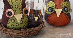 DIY fabric owls - CherylStyle
