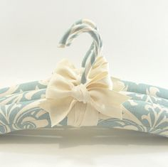 Padded Hangers Robins Egg Blue Damask Print by tokyoblues on Etsy