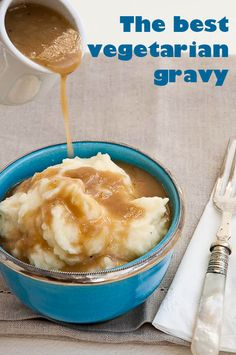 Umami Girl's favorite recipe for truly savory, practically meaty vegetarian gravy. Or make it vegan.