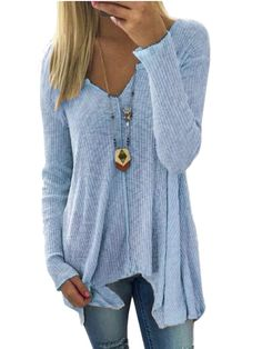 2018 Spring Autumn Knitte Sweaters Women Fashion Sexy V-neck Sweater Loose Sweater Long-sleeved Plus Size Pullover Fall Fashion Trends, Autumn Fashion, Long Sweaters, Sweaters For Women, Plus Size Winter Outfits, Neue Outfits, Plus Size Shirts, Dance Fashion, Fashion Art