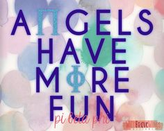 "Pi Beta Phi ""Angels Have More Fun"" (8""x10"") Digital Art Print - Instant Download"