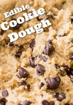 Edible Cookie Dough made with toasted flour and no eggs so you can enjoy worry-free! I'll be showing you how to heat-treat your flour (it's easy)! Edible Cookie Dough Recipe For One, Edible Sugar Cookie Dough, Cookie Dough For One, No Bake Cookie Dough, Edible Cookies, Cookie Dough Recipes, Baking Recipes, Healthy Chocolate Cookies, Frozen Chocolate