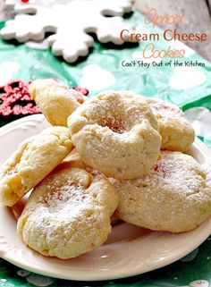 Apricot Cream Cheese Cookies – Can't Stay Out of the Kitchen Cheese Cookies Recipe, Gourmet Cookies, Cream Cheese Cookies, Cookies Et Biscuits, Ricotta Cookies, Fruit Cookies, Kiss Cookies, Jam Cookies, Yummy Cookies