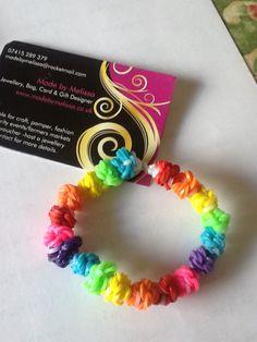 My own original design of #loom #loomband #bracelet #rainbow #melibobble #handmade #jewellery £2.50 www.madebymelissa.co.uk