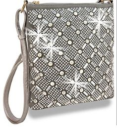New Trending Cross Body Bags: Zzfab Rhinestone Sparkle Swing Maximum Bling Cross Body Bag Pewter. Zzfab Rhinestone Sparkle Swing Maximum Bling Cross Body Bag Pewter  Special Offer: $24.99  300 Reviews We call this Rhinestone sparkle swing bag a maximum bling cross body purse because it is covered with bling and glitter. Please note color may vary from the online image due to...