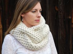 Crochet in Color: Effortless Cowl - made for my sister using Loops & Threads super bulky Cozy Wool in Carribean Sea, and loved so much I made one for myself using Loops & Threads Select Wool in Light Grey. Ridiculously easy and quick to make - and looks GORG!