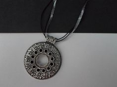 Silver and black necklace. by SiDaStyle on Etsy