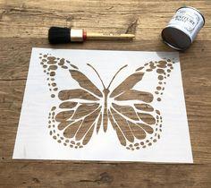 Butterfly Stencil, Dotty Butterfly Stencil, Insect Stencil, Nursery Stencil, Baby Stencil, Wildlife Stencil, Furniture Stencil, Wall Stencil by LaserAnything on Etsy