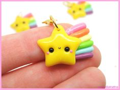 Polymer clay star keychain - A Cupcake For You