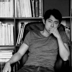 Steven Yeun (Glenn).  oh.my.gahd.   yes, steve. am coming.