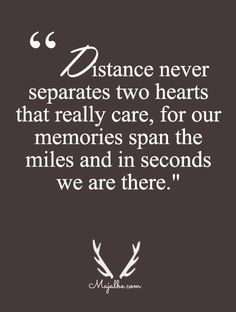 Distance Means No Separation Love Quotes