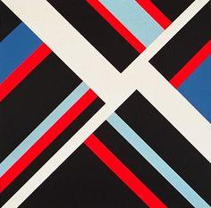 midcenturia:  Ilya Bolotowsky, Black Diamond, 1978