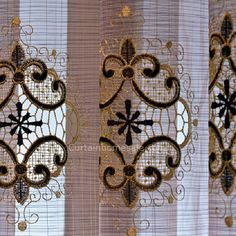 Luxury Victorian Vintage Living Room Curtain In Gold Brown Color Without Valance Living Room Decor Curtains, Living Room Colors, Living Room Designs, Living Spaces, Sophisticated Living Rooms, Green Curtains, Long Curtains, Custom Made Curtains, Living Room Arrangements
