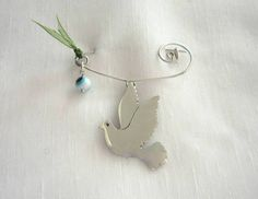 Handmade dove safety pin by KORMENTZACREATIONS on Etsy