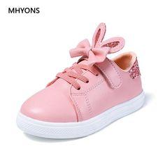 2018 New Kids Shoes Children Autumn Princess Shoes Children Sneakers Girls  White Bowknot Glitter Soft Flat Girls Baby Sport Shoe. 6855da65f045