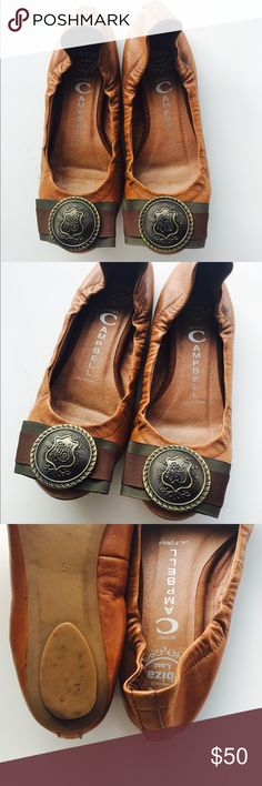 Jeffrey Campbell Tan Leather Flats Jeffrey Campbell Tan Leather Flats very good gently used condition Jeffrey Campbell Shoes Flats & Loafers