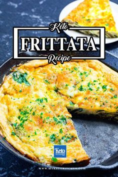 """Keto Frittata Recipe – """"Low Carb Breakfast In A Pan"""" – Highly Nutritious. This delicious keto breakfast recipe needs only one pan! It's an easy breakfast recipe for the whole family. Quick Keto Breakfast, Ketogenic Breakfast, Healthy Breakfast Recipes, Nutritious Breakfast, Ketogenic Food List, Ketogenic Recipes, Keto Recipes, Keto Diet Book, Frittata Recipes"""