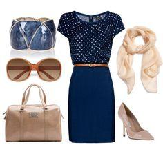 Graceful Blue Dress for Work