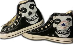 Hey, I found this really awesome Etsy listing at https://www.etsy.com/listing/181677400/the-misfits-custom-converse-all-stars