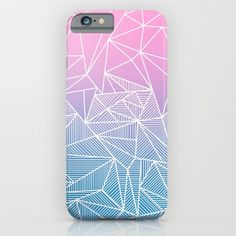 'Barika Rays' iPhone Case by Fimbis | Society6 . . iPhone 6, iPhone 6s, design, fashion, summer, pink, blue, purple, white, fashionista, gradient,