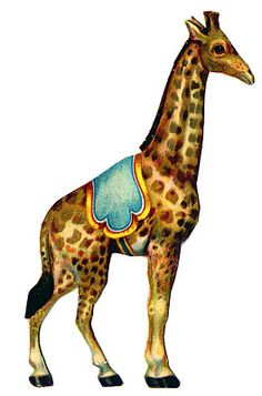 Vintage Graphic - Circus Giraffe - The Graphics Fairy---nursery prints?? other circus animals too!