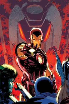 Iron Man...being controlled by Ultron it looks like