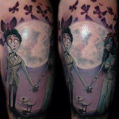 nightmare before christmas and corpse bride tattoos - Hledat Googlem