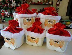 DIY: Pote de Papai Noel! Aprenda a fazer para decorar ou presentear aqueles que você ama. Confira em nosso blog: http://dicasdacasa.com/caixa-papai-noel/