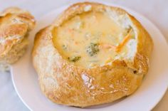 Every Christmas Eve my family gets together and we have Clam Chowder and Cheddar Soup and we serve them in bread bowls from Albertsons. You've got to try this yummy soup!