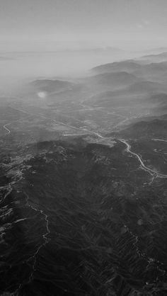 Nature Sky Mountain View Night Flight #iPhone #5s #wallpaper